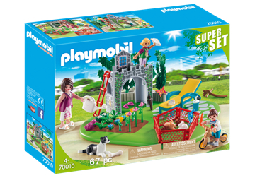 Playmobil 70010 Supersæt Familie have - playmobilbutikken