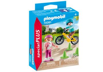 Playmobil 70061 børn med cykel og skøjter - playmobilbutikken