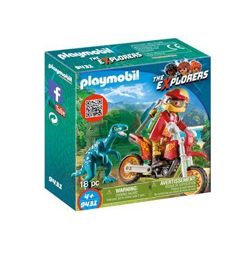 Playmobil 9431 Motorcross cykel med Raptor - playmobilbutikken