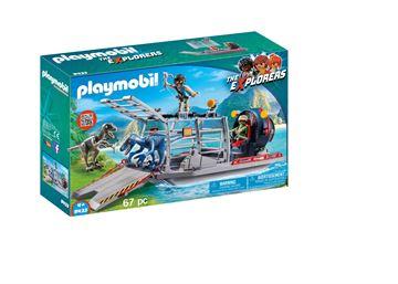 Playmobil 9433 Propelbåd med dinosaurbur - playmobilbutikken