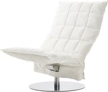 Woodnotes K tuoli, pyörivä, leveä, valkoinen