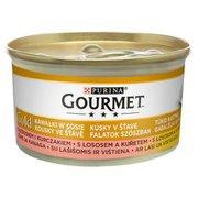Gourmet - Karma dla kota łosoś i kurczak w sosie
