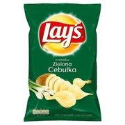 Lays - Chipsy ziemniaczane o smaku zielonej cebulki 140 g