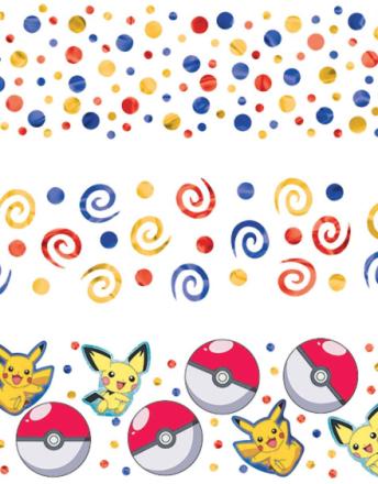 Bordkonfetti - Pikachu og Pokémon-Venner