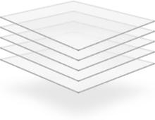 Vidaxl plexiglasskivor 5 st 40x60 cm 10 mm