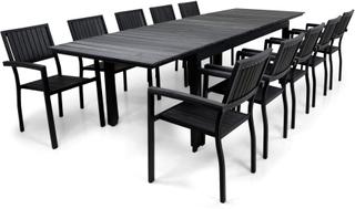 Underhållsfria utemöbler - Rindö 200-300cm inkl. 10 stolar