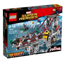 LEGO Super Heroes Spider-Man: Edderkoppekrigernes ultimative kamp på broen 76057 - wupti.com