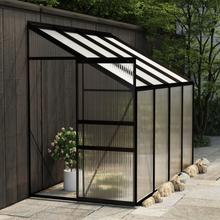 Drivhus til vegg i aluminium 3,17 m² - antrasitt