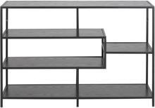 Seaford sort bogreol - bredde 114 cm