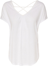 ONLY Loose Short Sleeved Top Women White