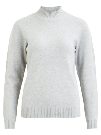 VILA Knitted Pullover Women Grey