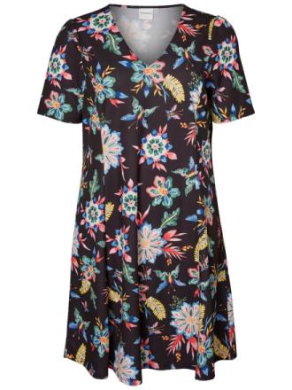 JUNAROSE Printed Dress Women Black
