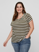 JUNAROSE Striped T-shirt Women Green