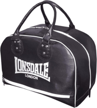 Lonsdale sportväska i läderimitation svart