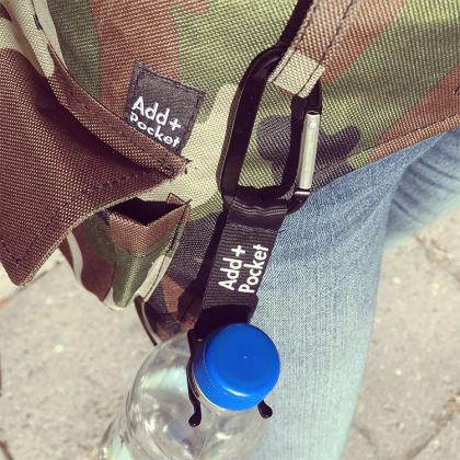 Flaskhållare med karbinhake