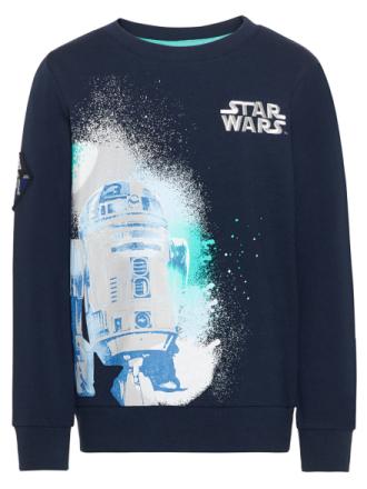 NAME IT Kids Star Wars Sweatshirt Men Blue