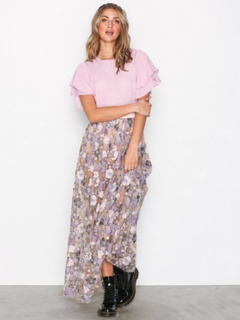 For Love & Lemons Posy Embroidery Maxi Skirt