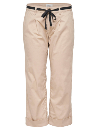ONLY Cropped Trousers Women Beige