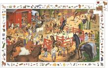 Djeco - Pussel - Hästtävlingen
