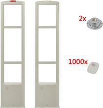 vidaXL RF Larmbågar med larmbrickor och brickavtagare 8,2 MHz vit