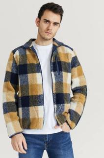 Studio Total Genser Contrast Pile Jacket Beige