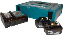 Makita batterier 2 x 18 V / 4,0 Ah, inkl. laddare