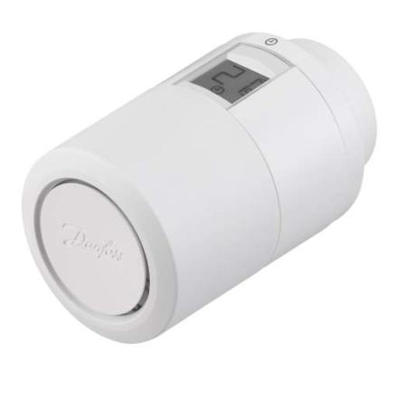 Danfoss Eco 2 programmerbar elektronisk termostat til RA-2000 ventiltilslutning - inkl. batterier