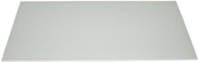 Millarco stänkplatta, fyrkantig 800 x 400 mm - Vitt frostat glas