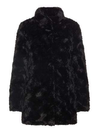 VERO MODA Synthetic Fur Jacket Women Black