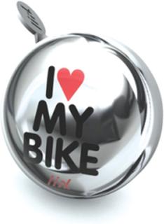 Liix, Mini Ding Dong Ringklocka - I Love My Bike Chrome