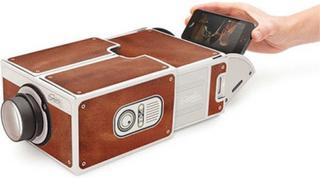 Mini projektor cardboard drivs av din smartphone