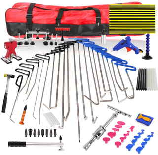 WEYHAA PDR Rod Hooks Car Dent Remover Kit PDR Tools Dent Lifter Paintless Dent Hail Removal Repair Tools Glue Gun