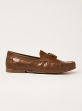 Tan Leather Blast Tassel Loafers
