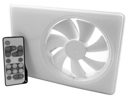 Duka Smartfan m/bevægelsessensor+Hygrostat+timer 152x206 mm Ø100/125 mm, Hvid