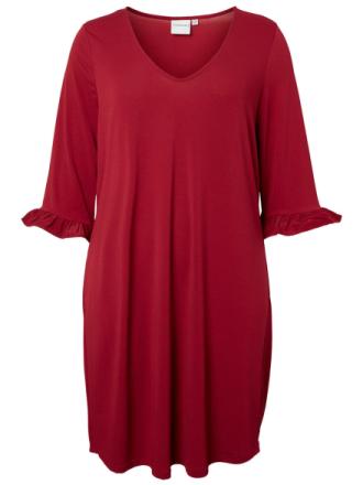 JUNAROSE 3/4 Sleeved Dress Women Red