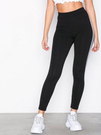 New Look Double Side Stripe Leggings Black