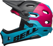 BELL SUPER DH MIPS Mat/Gls Black/Berry/Blue, S