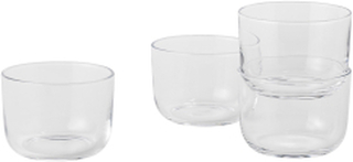 Corky / Carafe & Glasses / Low, Glasses - Low - Clear