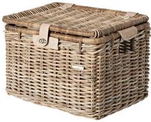 Basil Basket Denton L Trnsprt - Rattan 45x32x32cm Nature Grey