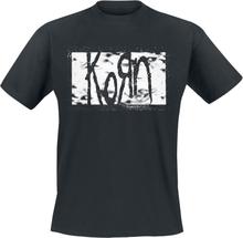Korn - Gritty Rectangle Logo -T-skjorte - svart