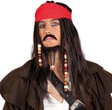 Udklædning, Voksen, Pirat, paryk og skæg, Captain Sparrow