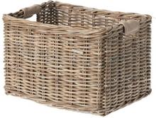 Basil Basket Dorset L Trnsprt - Rattan 45x34x31cm Nature Grey