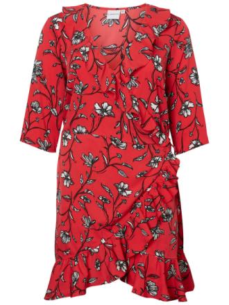 JUNAROSE Wrap Dress Women Red