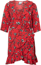 JUNAROSE Wrap Dress Women Red