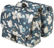 Basil Bicycle Bag Magnolia - Double Bag 25L Teal Blue