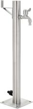 vidaXL Vattenpost för trädgården 65 cm rostfritt stål rund