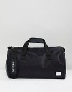 Spiral - Svart duffelväska för gymmet - Svart