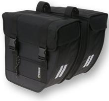 Basil Bicycle Bag Tour - Double Bag 40L Black/Silver XL