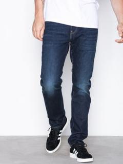 Levis 502 Regular Taper Biology Jeans Denim Blå