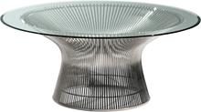 Knoll Platner sohvapöytä, nikkeli - kirkas lasi